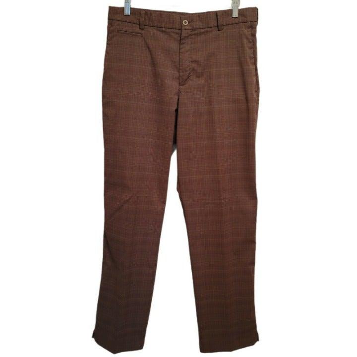 Men's 32x32 Nike Golf Pants - Dri-Fit - Brown Plaid - Polyester