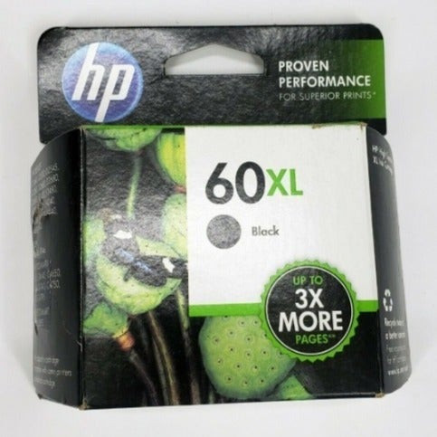 NEW HP 60 XL Black Ink Cartridge Toner