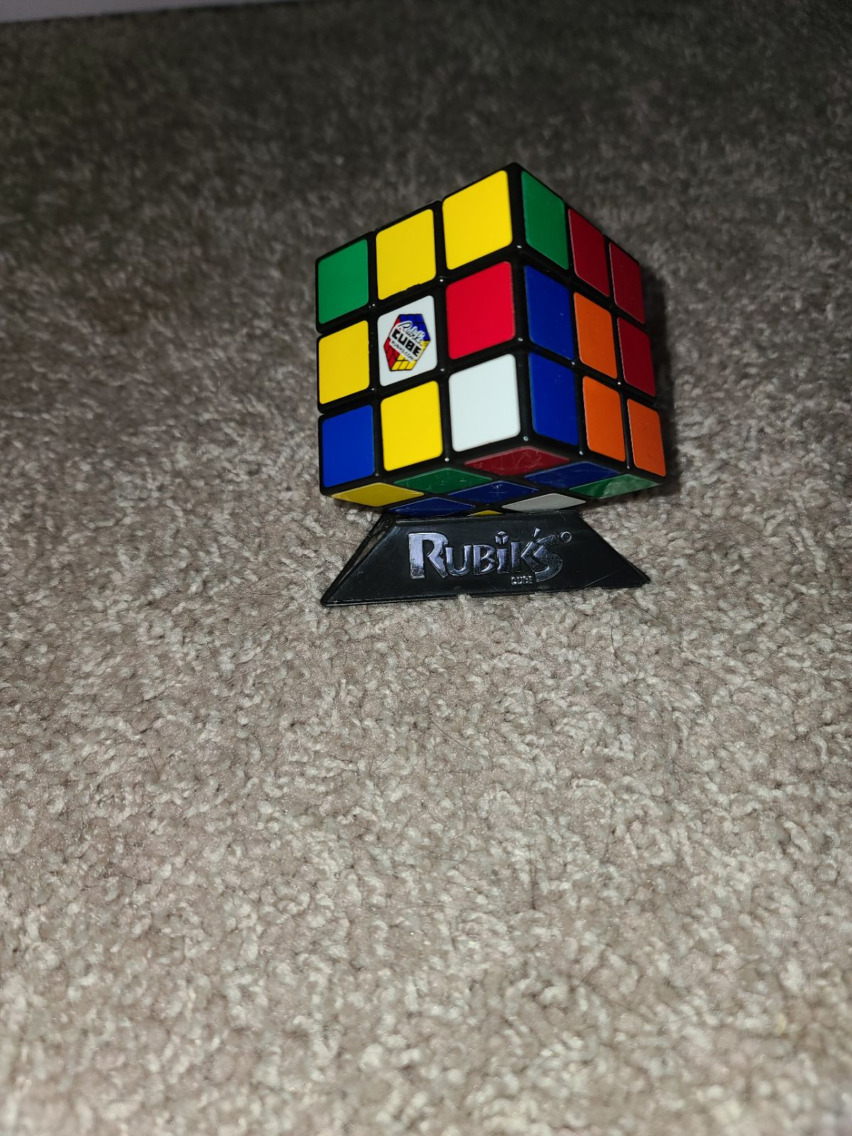 Rubiks Cube with stand