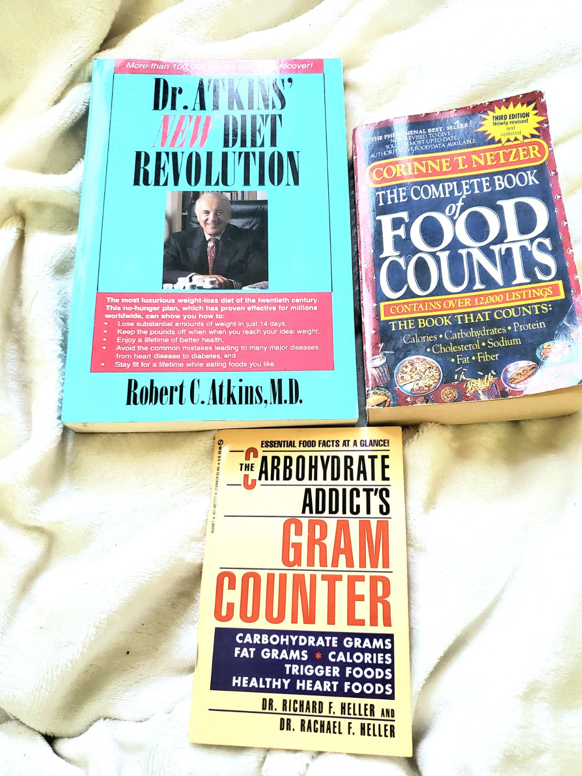 3 diet food books Adkins carbohydrates