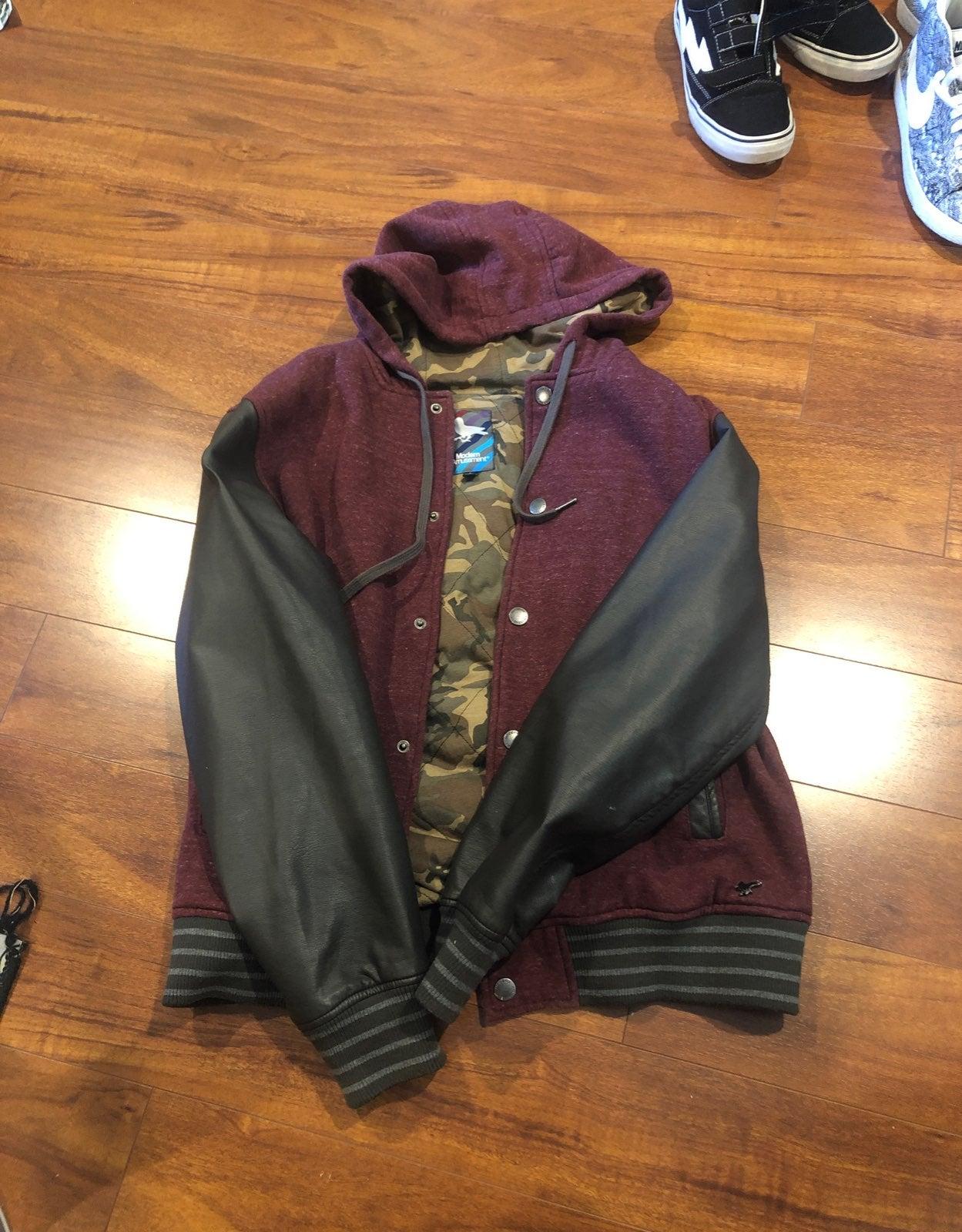 modern amusement pacsun varsity jacket