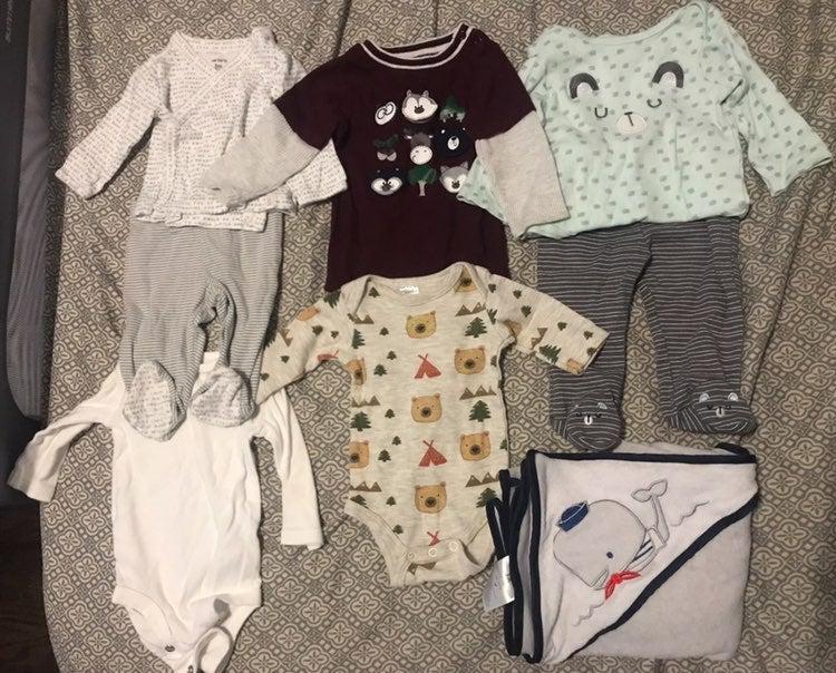 baby onesies long sleeve bundle 3 months
