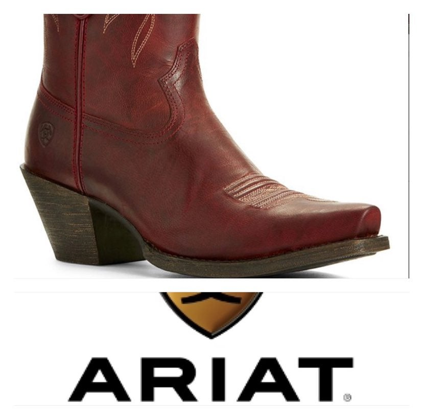 Ariat Burgendy Leather Boots