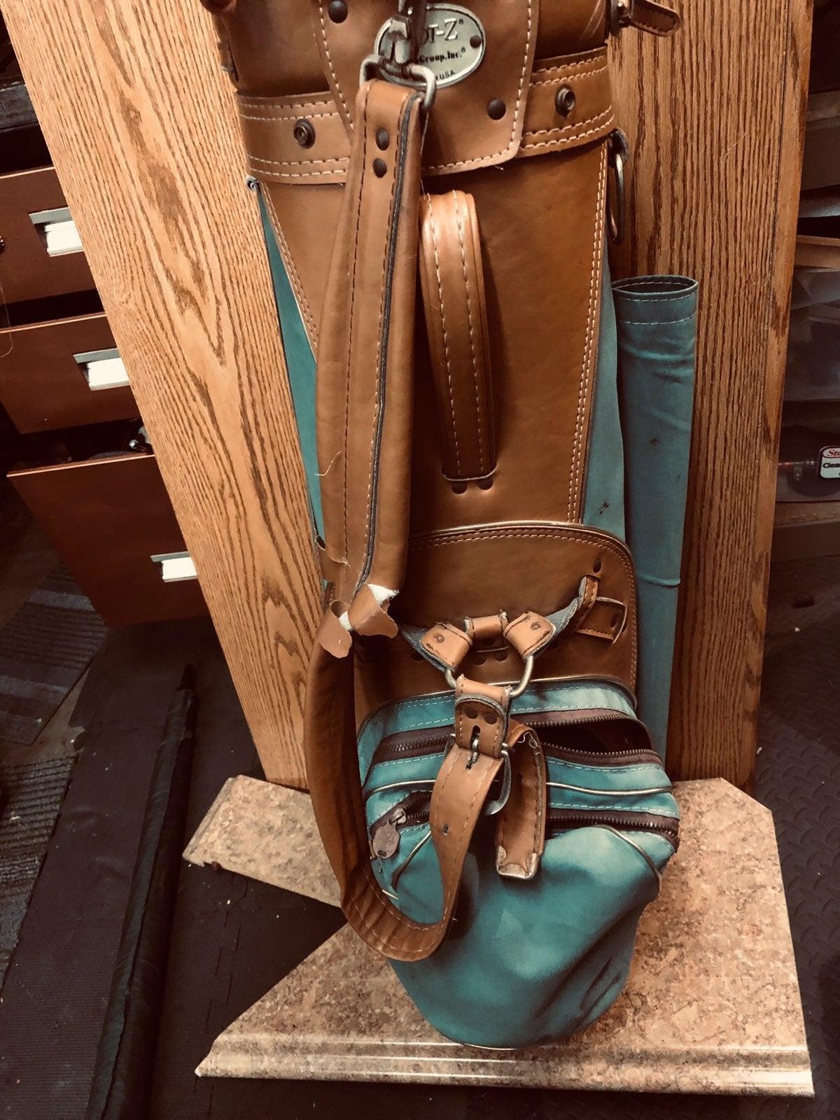 Vintage - Hot-Z golf bag / usa leather
