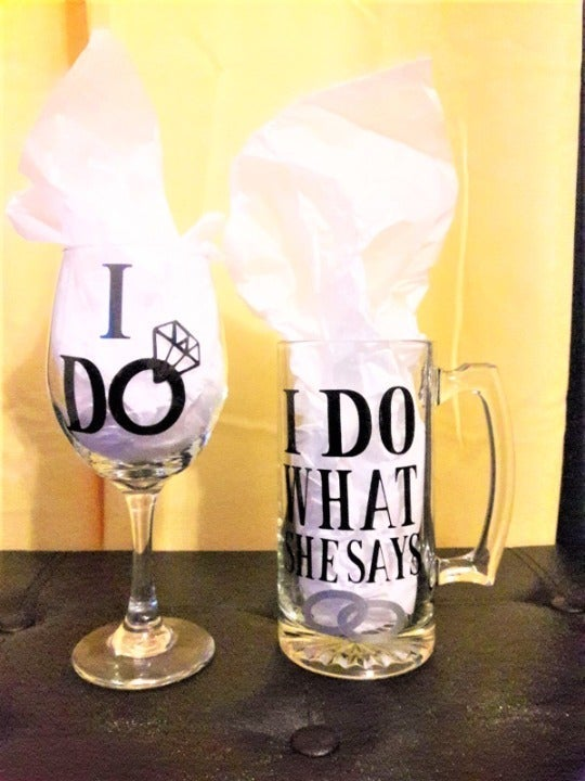 Any Phrase! Personalized Glass Set