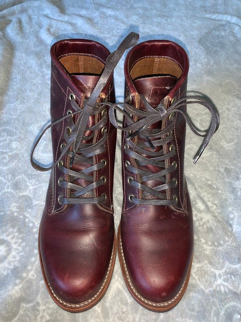 Chippewa Red Lace Up Boots Sz 9
