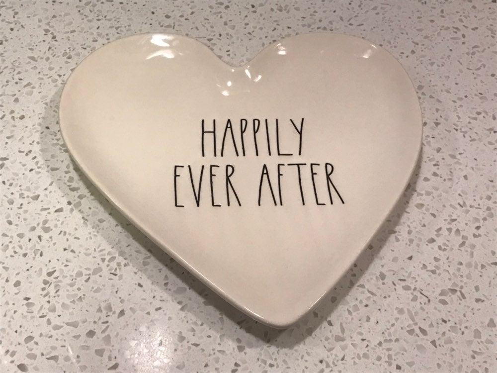 Rae Dunn Wedding Plate