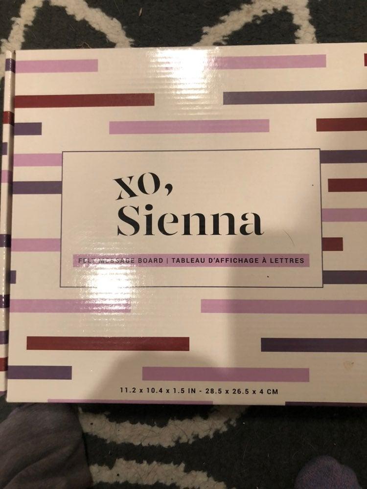 Brand new xo, Sienna felt message board.
