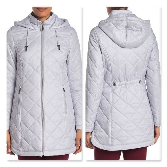 Laundry By Shelli Segal Quilt Zip Parka