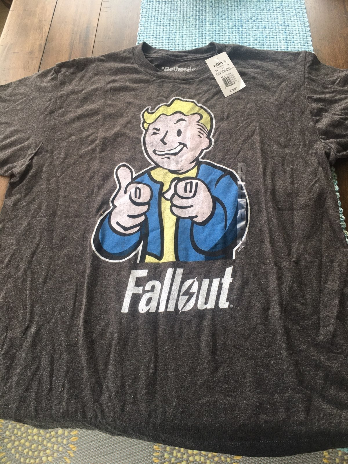 Fallout T shirt Grey Large