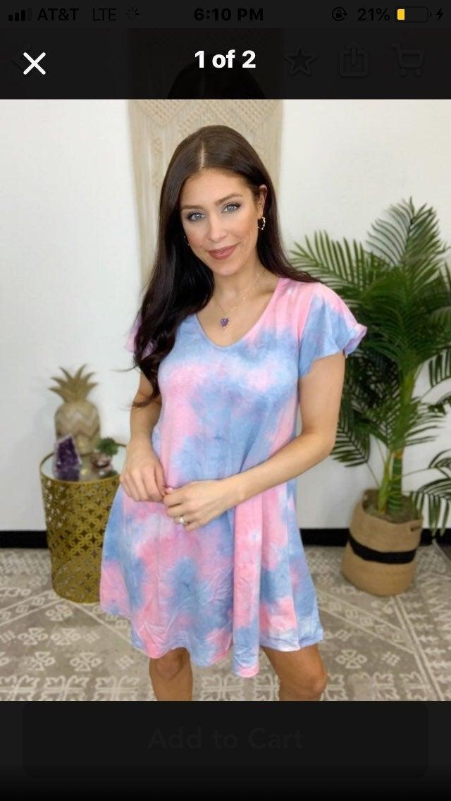 Nwt tie dye knit dress medium