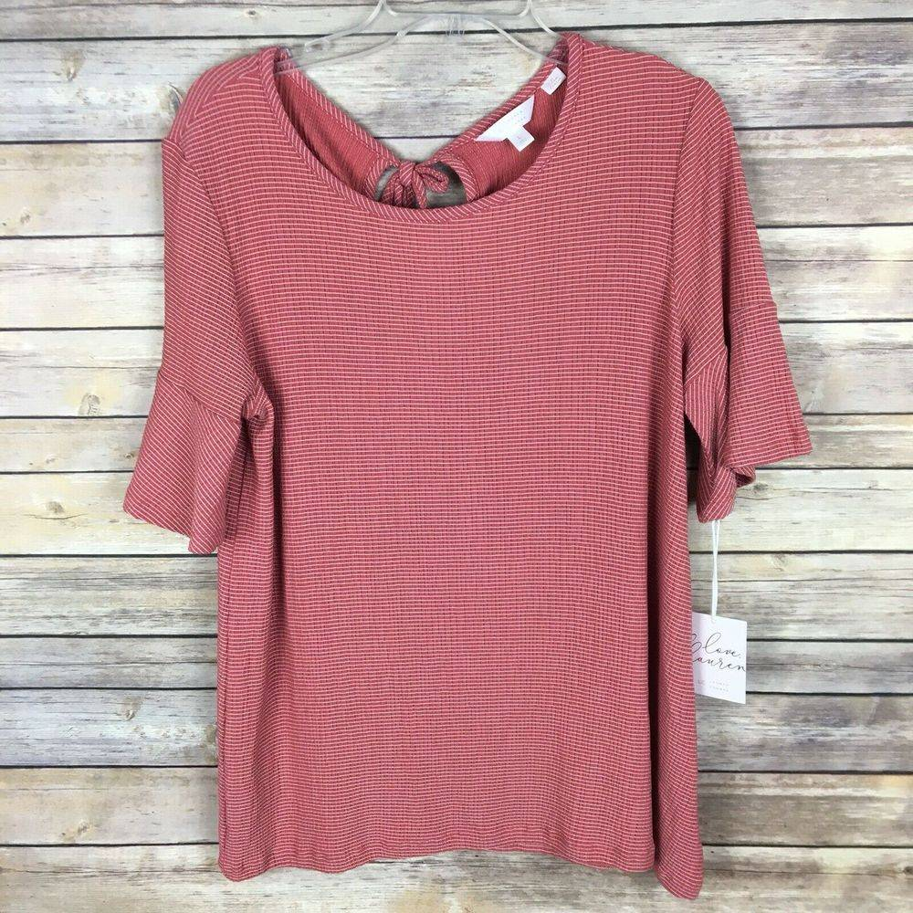 NWT Lauren Conrad Knit Top Large Pink
