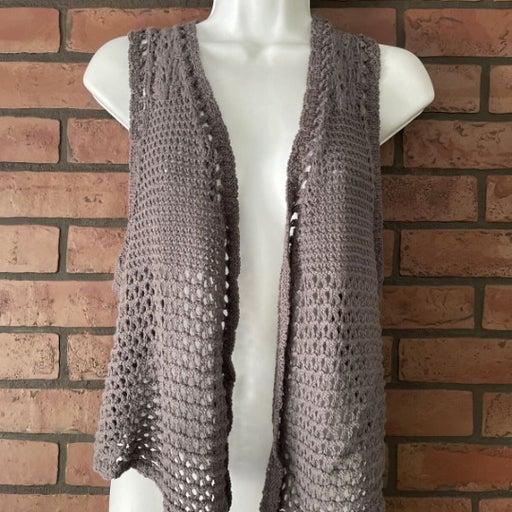 Mudd Women's XL Open Vest Knit NWT XL