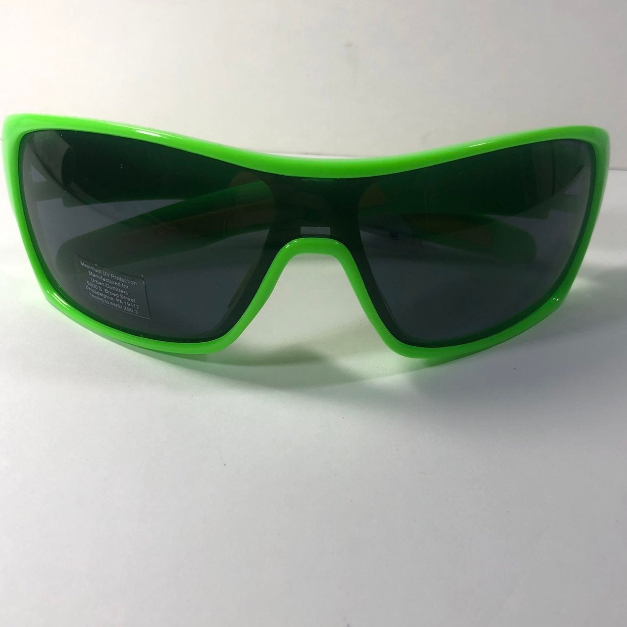90s Style Green Yellow Sunglasses