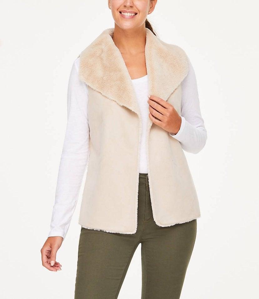 Grace Fur Vest Size Large