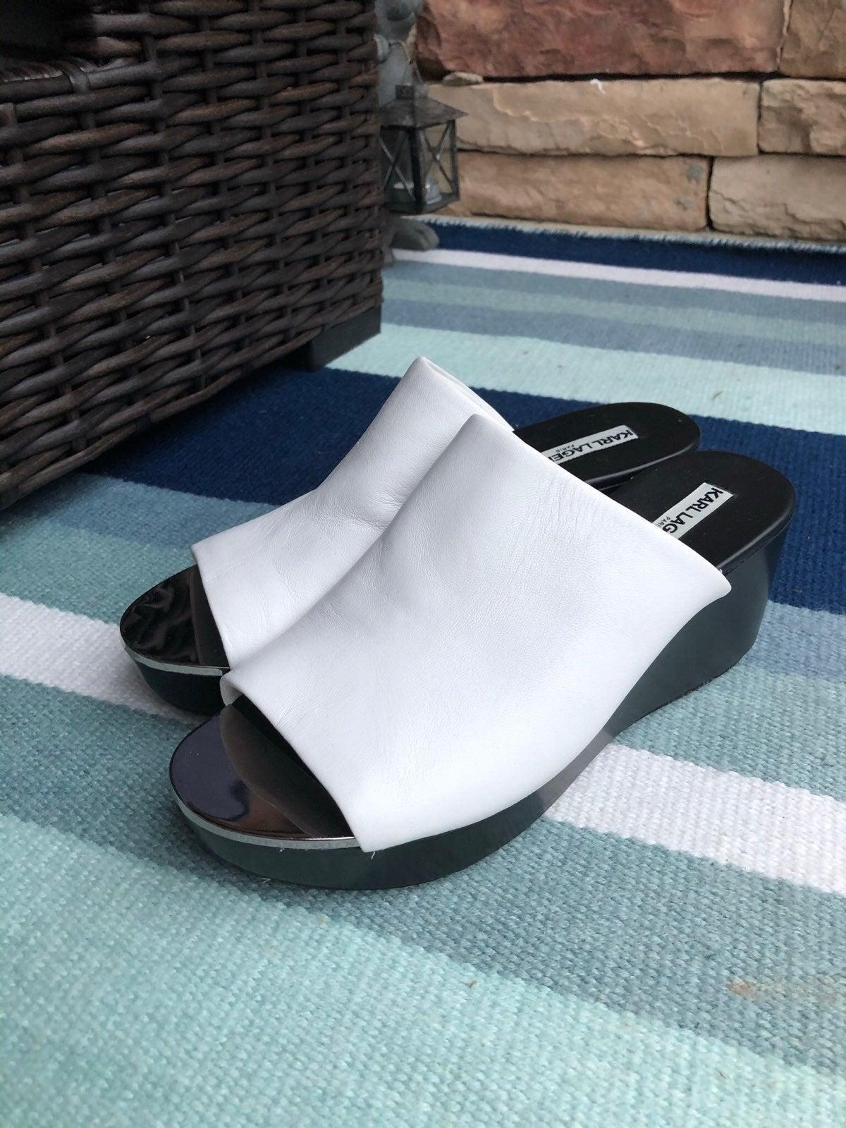 Karl Lagerfeld slip on sandal