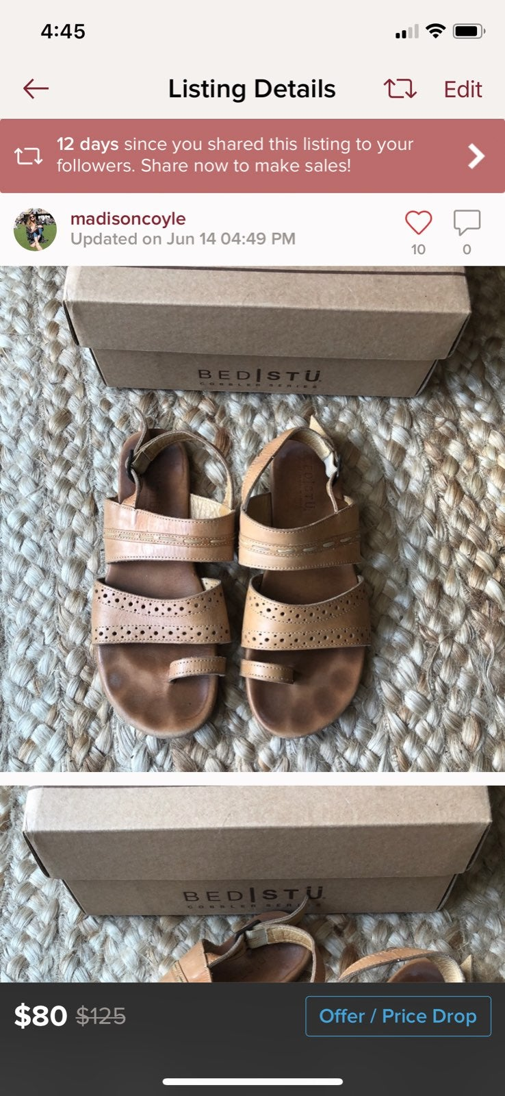 Womens BedStu Rosalyn Leather Sandals