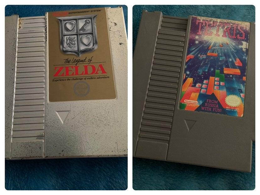 NES Legend of Zelda and Tetris