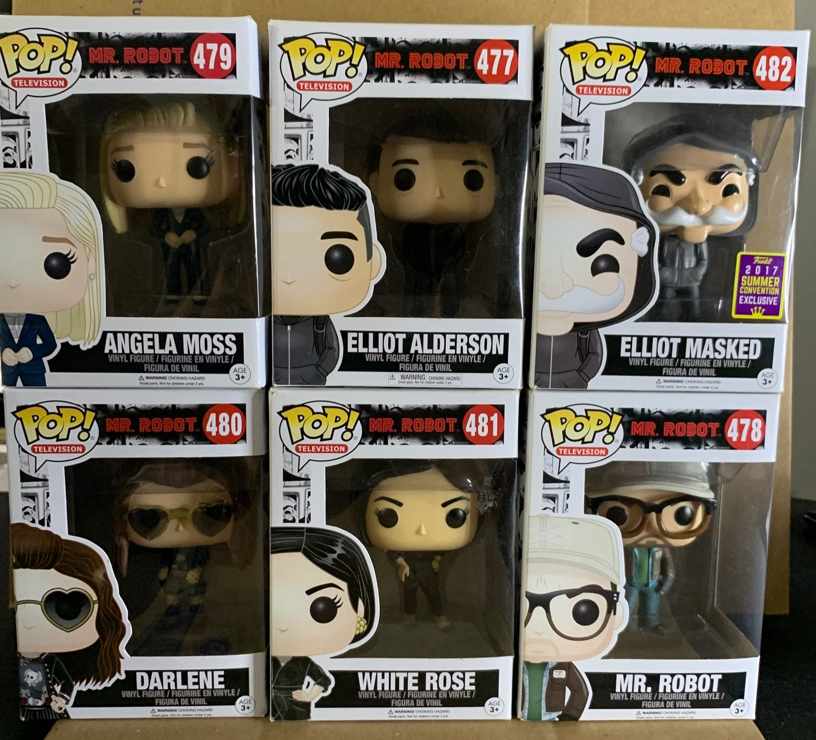 Vaulted Mr. Robot Funko pop Lot
