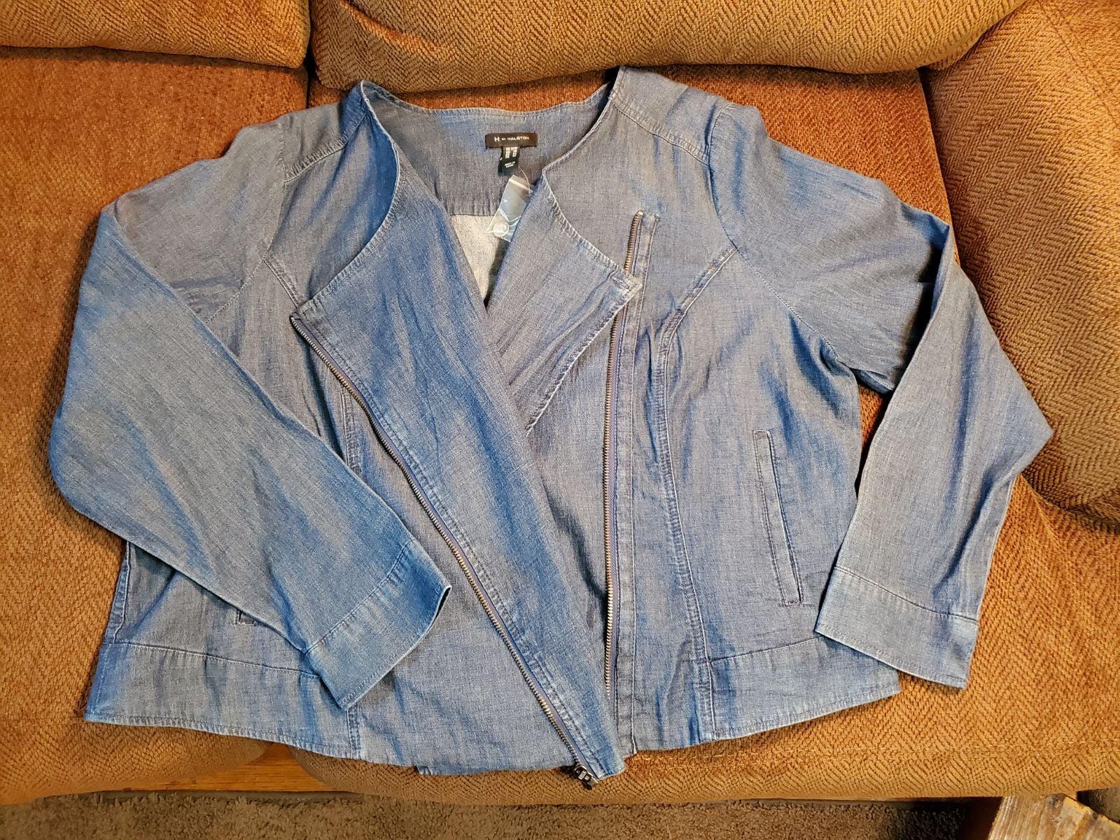 HALSTON Lightweight Denim Jacket*Size 24