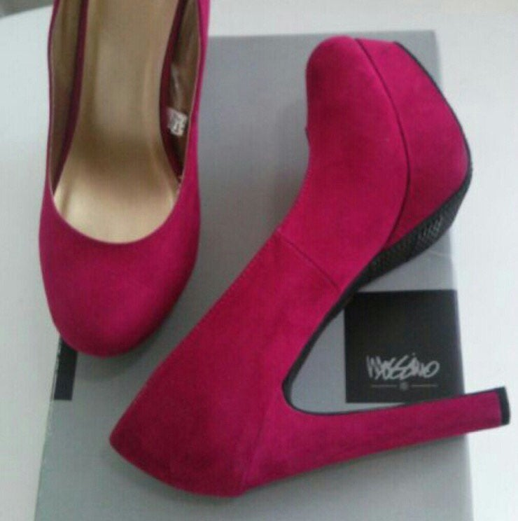 Mossimo Suede Pink High Heels