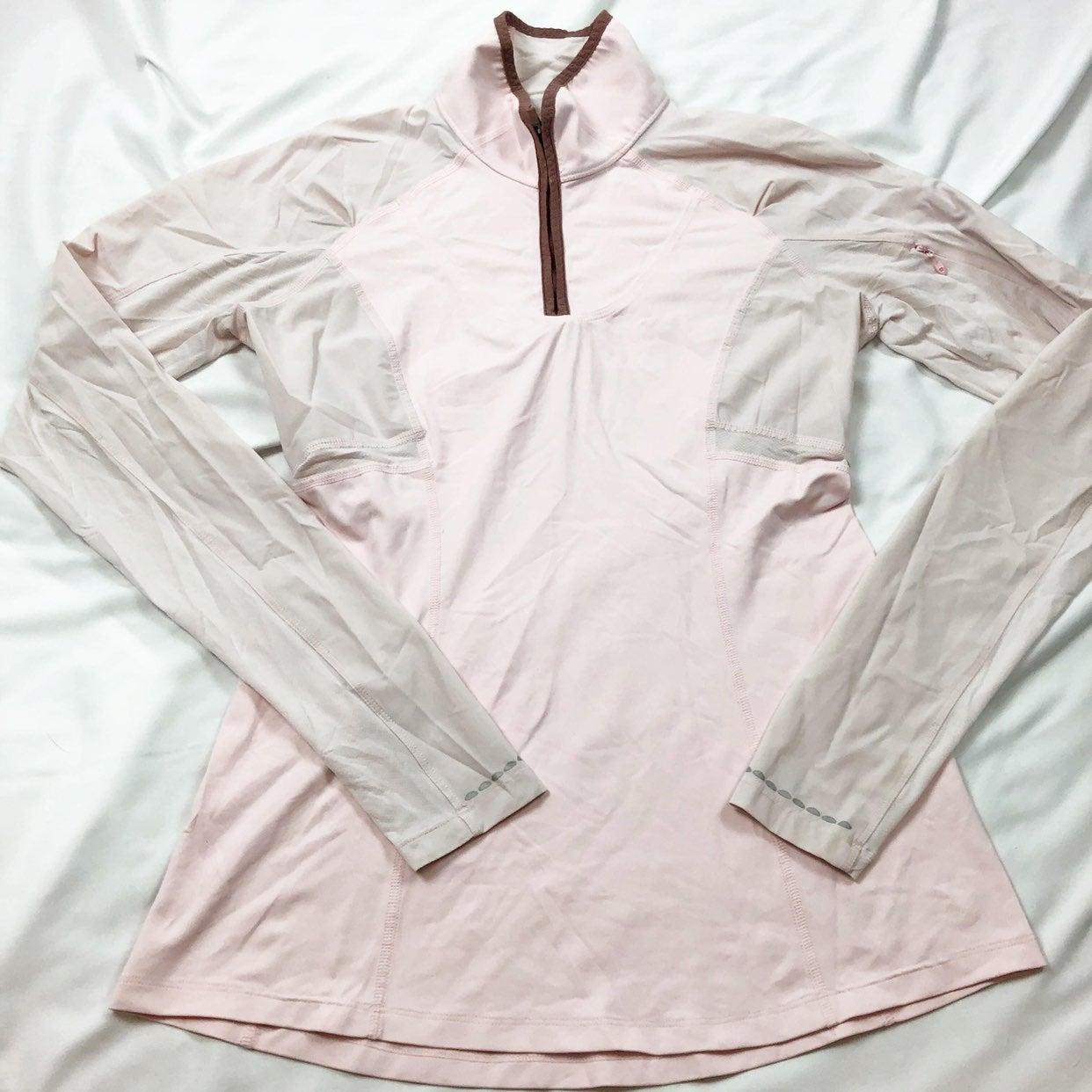 Lululemon light pink half zip