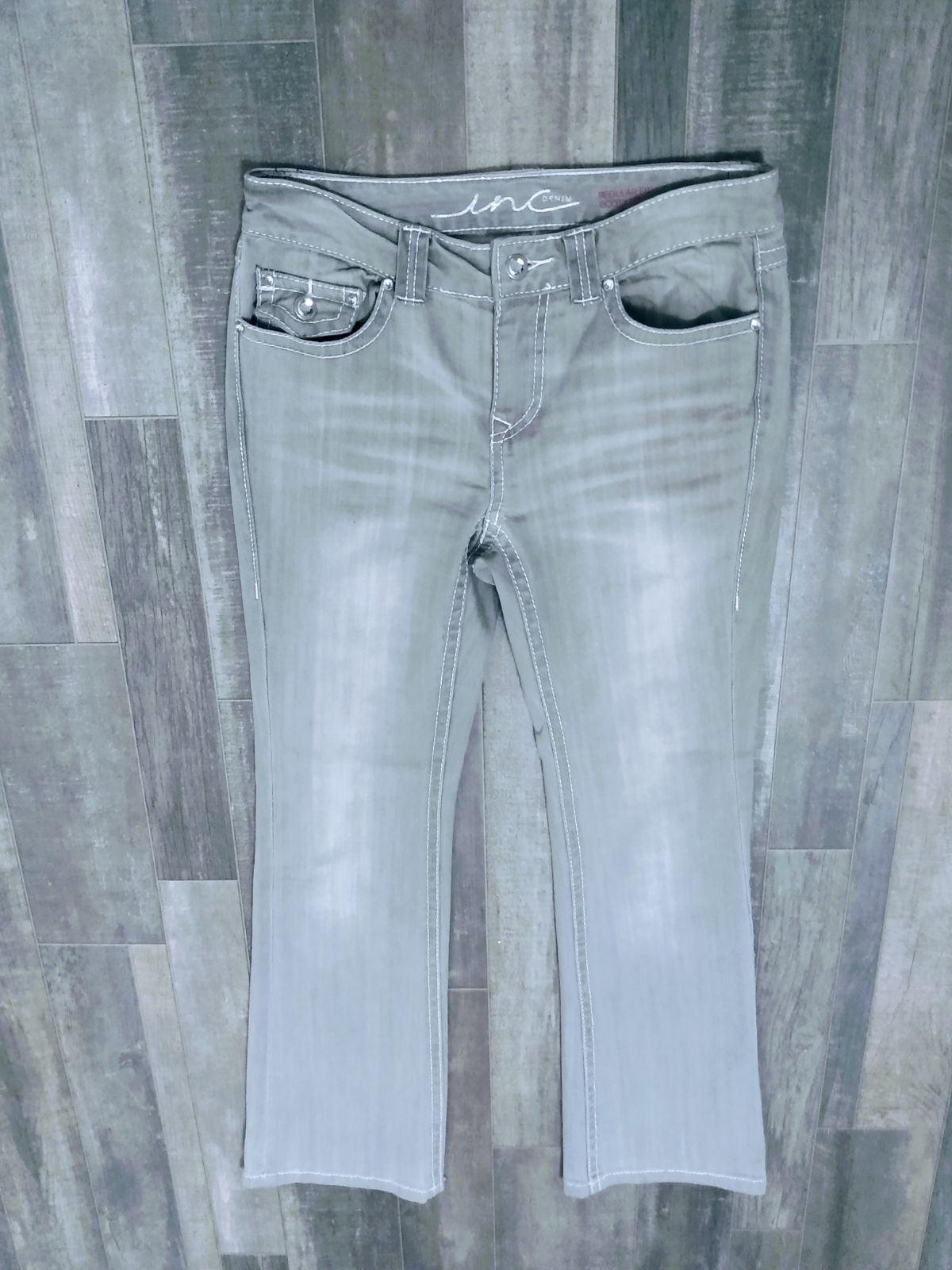 INC Denim Regular Boot Leg Jeans Grey