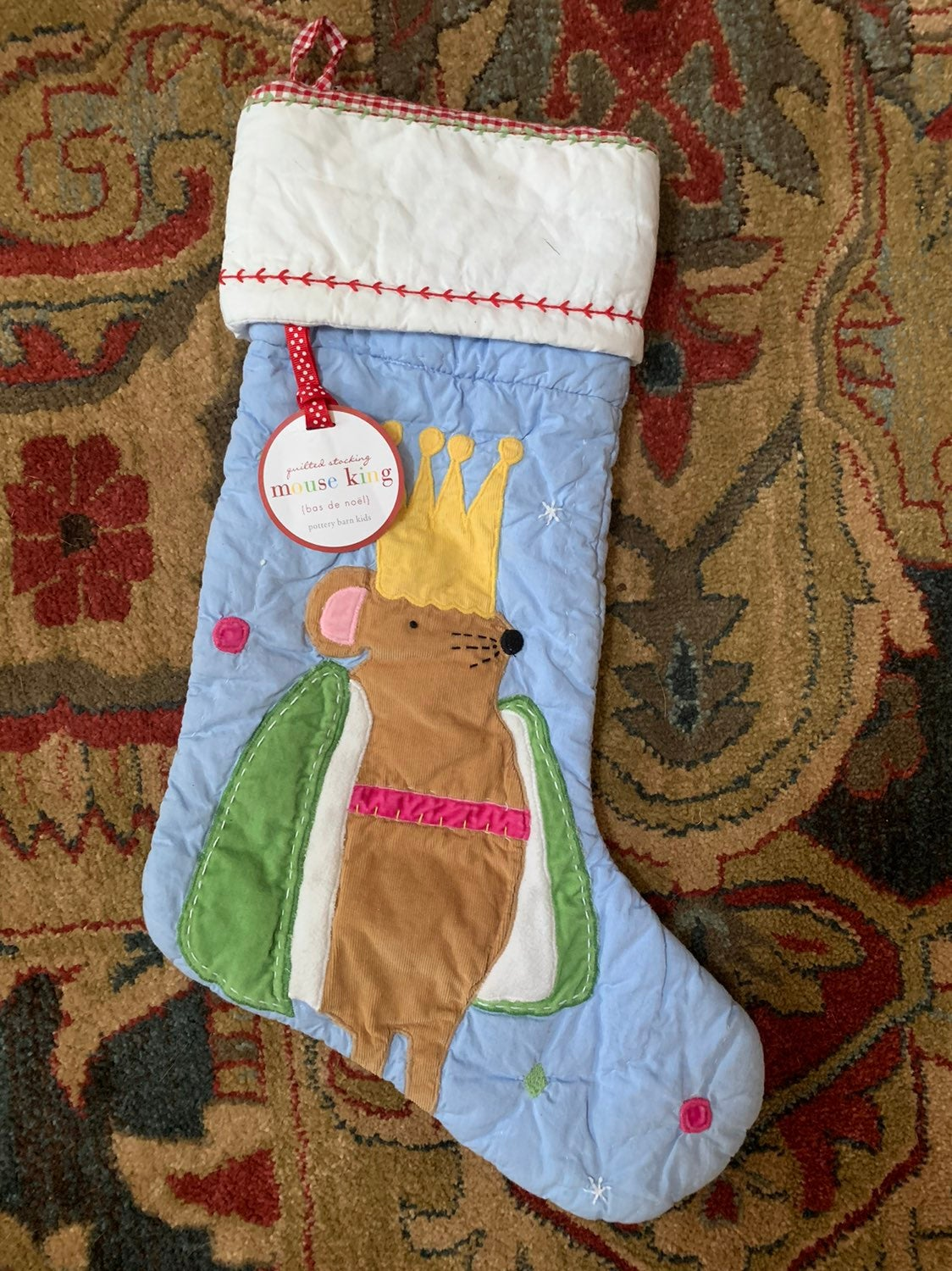 NWT Pottery Barn Kids Quilted Stocking