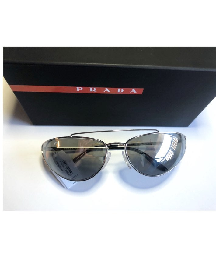 PRADA Silver Cat Eye 66mm Sunglasses