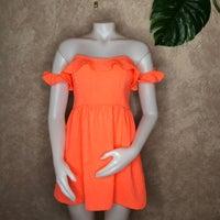 cbd49bed0fd3 Dance Marvel Neon Coral Eyelet Dress. Anthropologie
