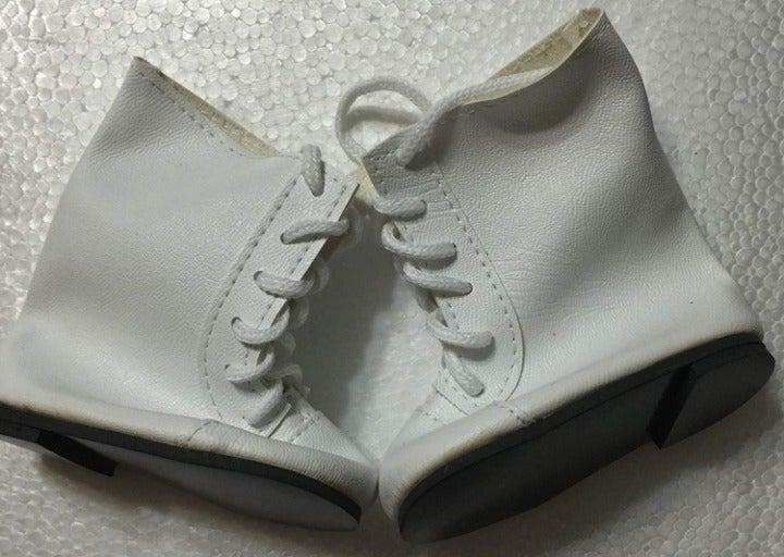 Monique Lace Up Doll Boots White