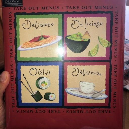 Take out menu box