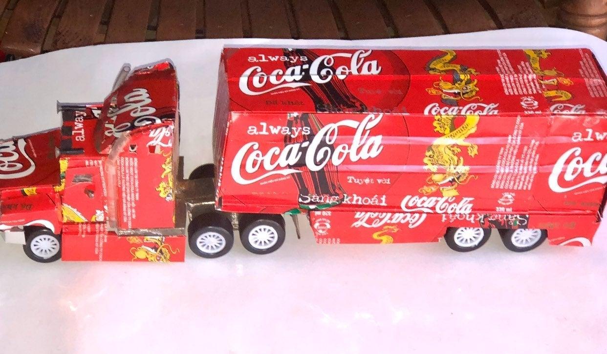 Diesel Semi Truck made with Coca-Cola Ca