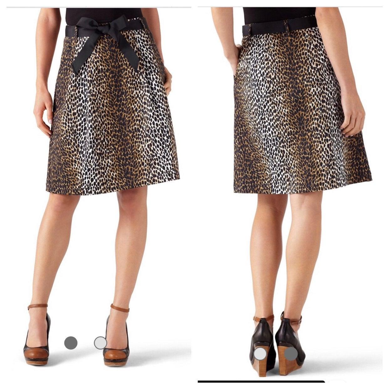 WHBM Animal Print Full Skirt 4