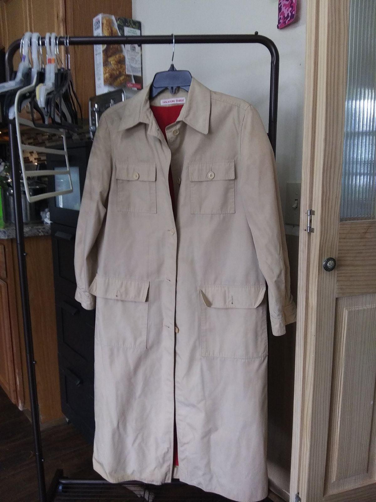 Woman's full length raincoat
