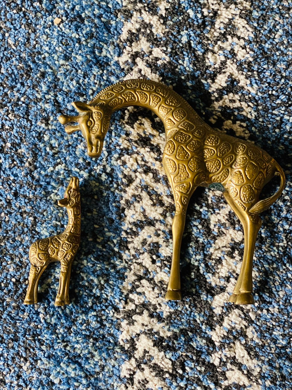 Vintage Brass Giraffe Pair