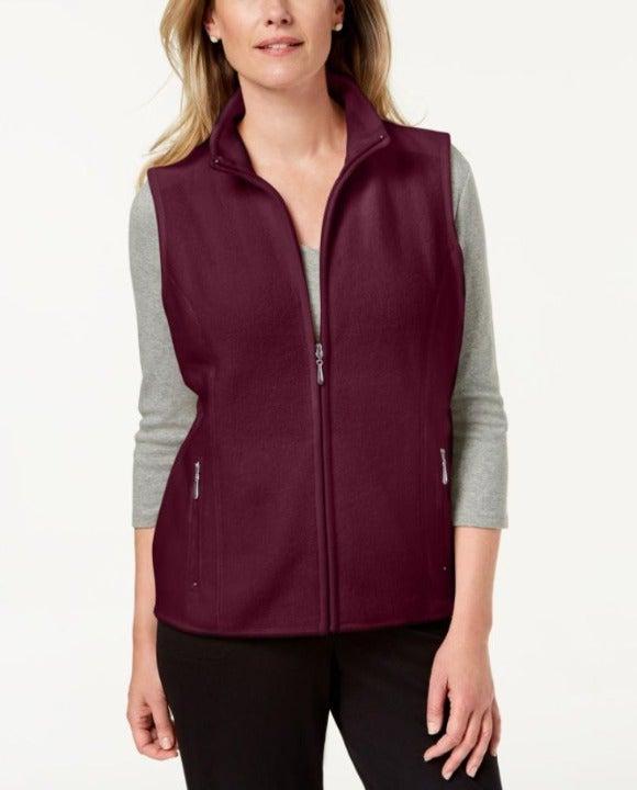 Karen Scott Fleece Zeroproof Vest 2X