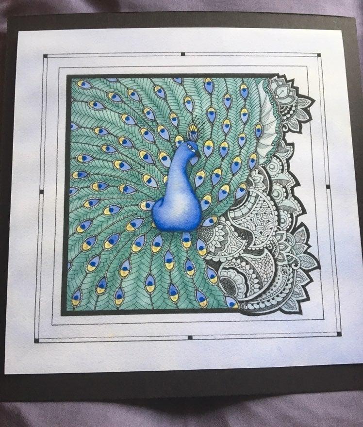 artwork in ink- peacock