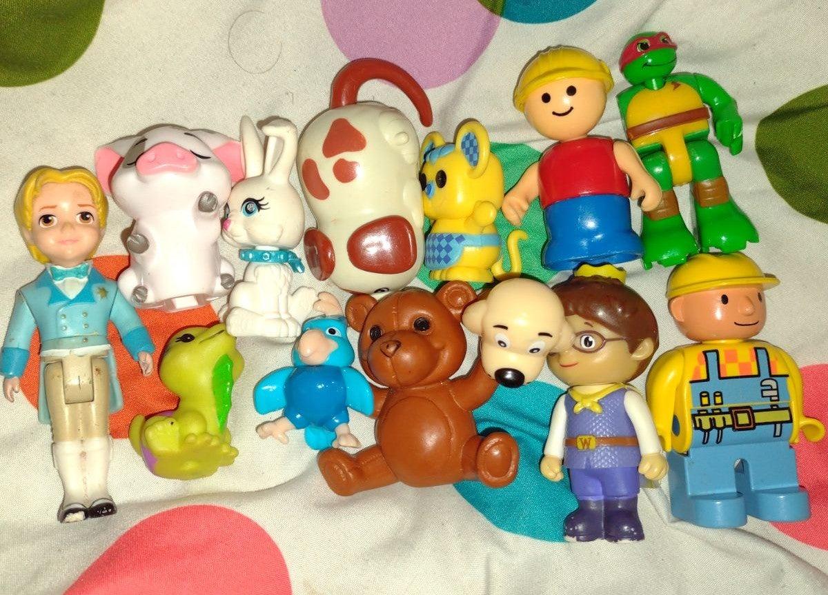 lot of random small toys