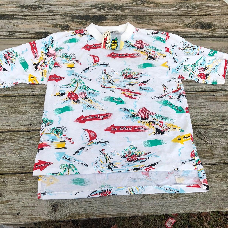 Vintage NWT beach shirt mens medium