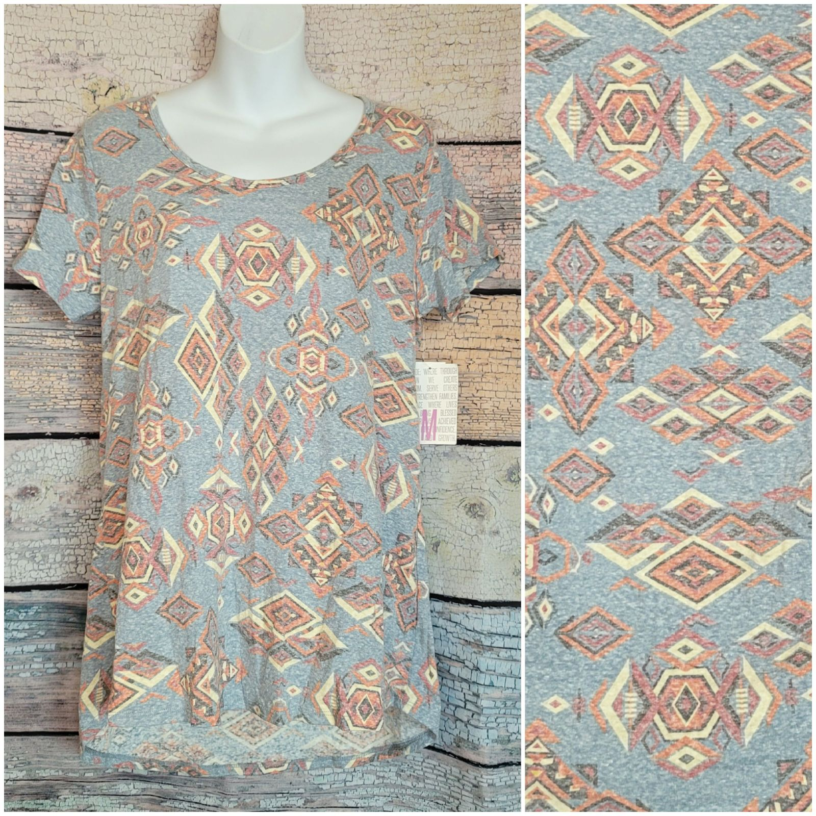 Lularoe Classic T new tribal gray medium