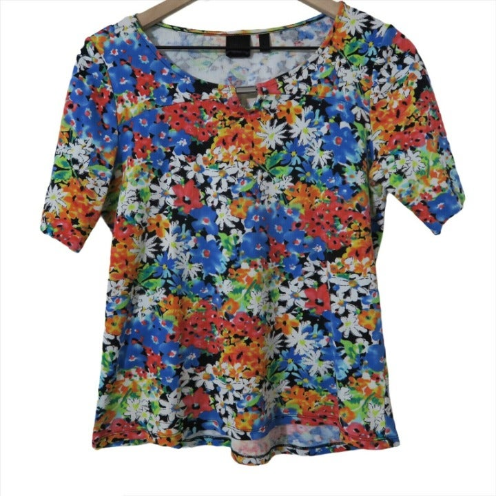 Rafaella Floral Short Sleeve Top Spring
