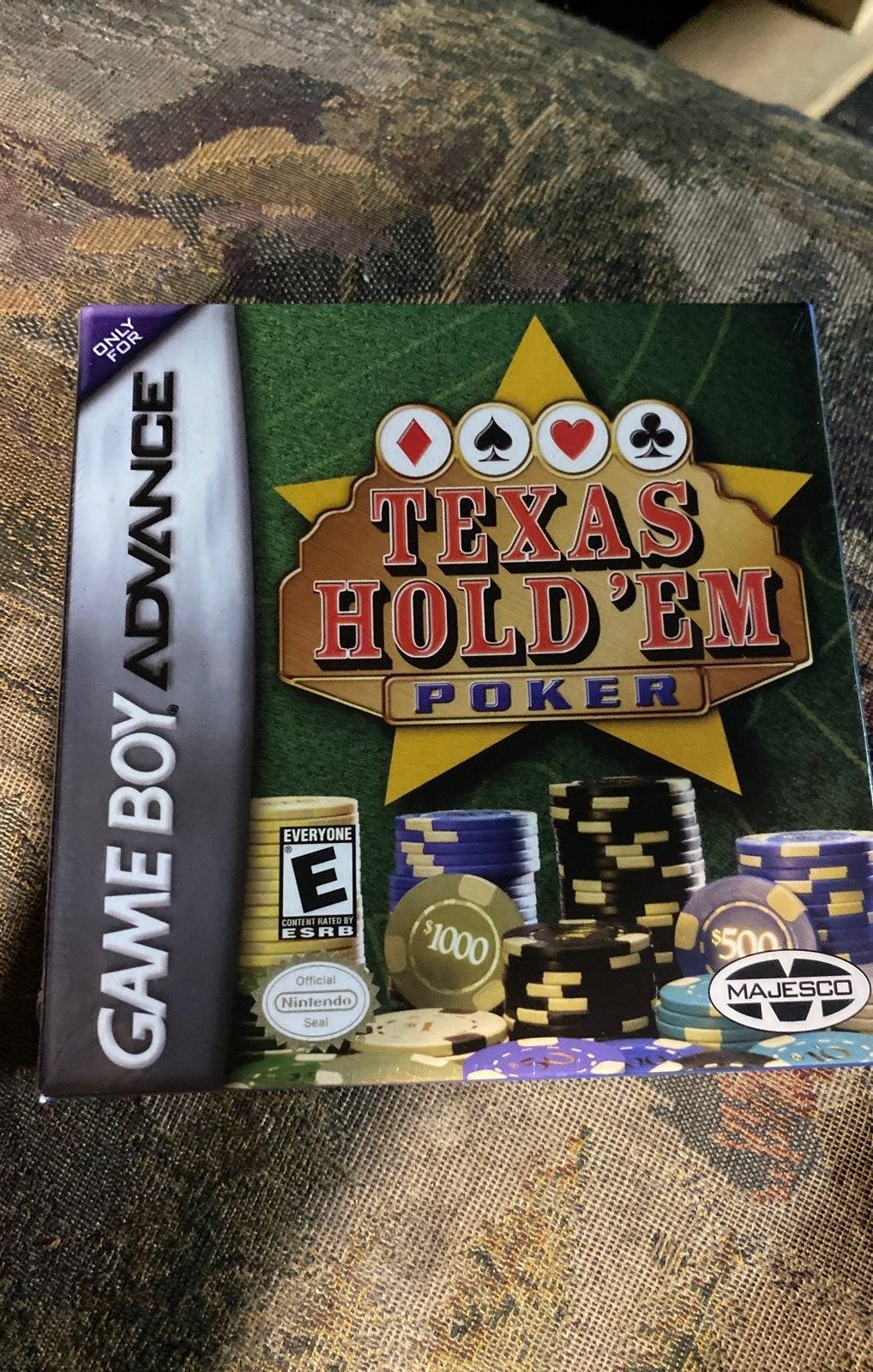 Gameboy Advance Texas Hold'em New Sealed