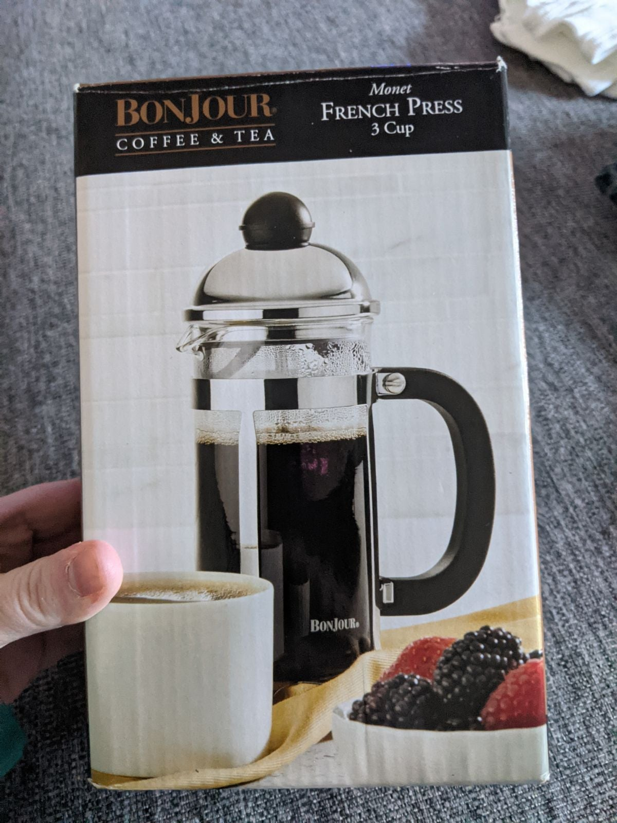 Bonjour coffee/tea 3 cup french press