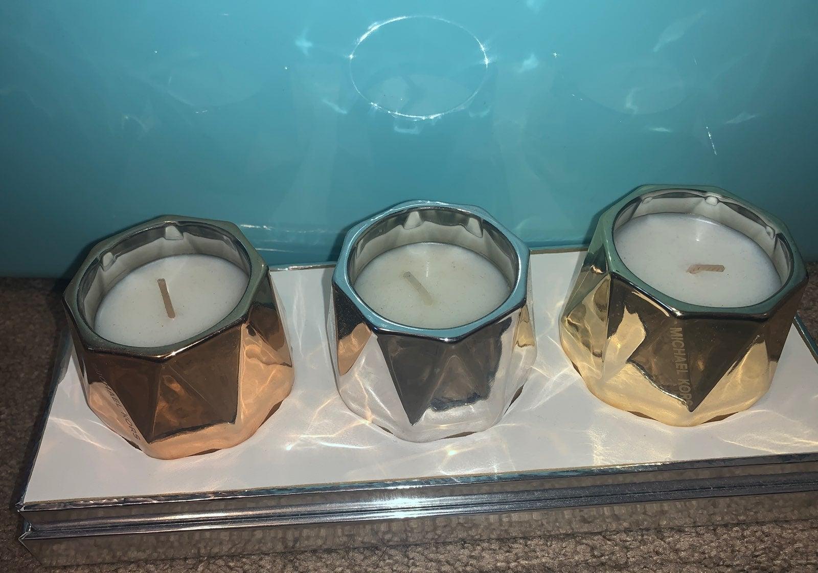 Micheal Kors candle set