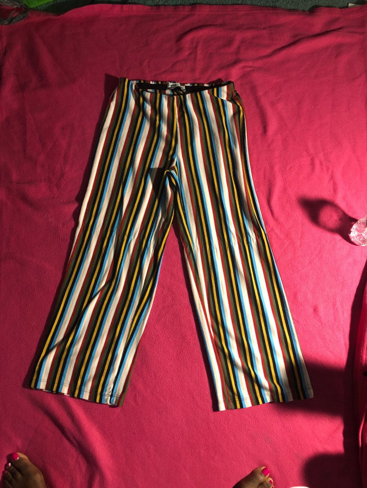 Striped, flared pants