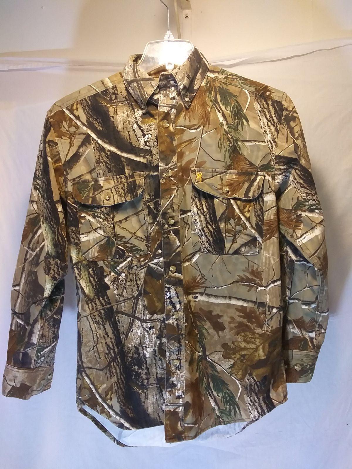 Browning Camo Hunting Shirt, Men's sz S