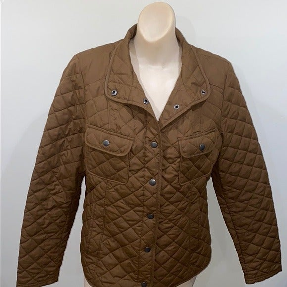 merona tan quilted jacket medium tan
