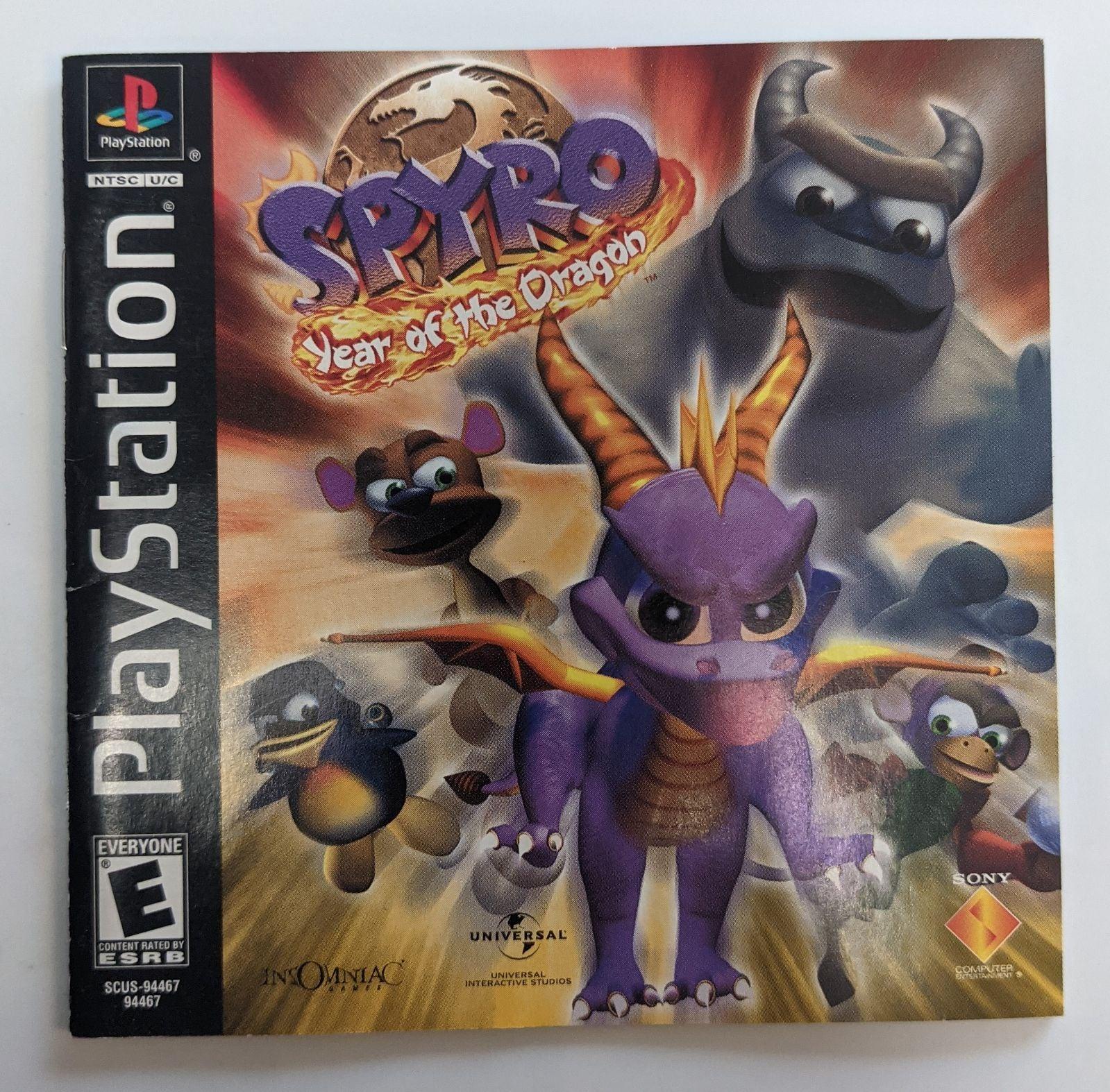 Spyro: Year of the Dragon on Playstation
