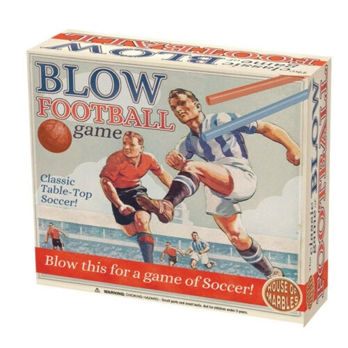 House of Marbles Blow Football Game Fun